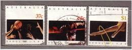AUSTRALIA 1988 Used Gestempeld Oblitere Olympic Games Seoul Mi 1123-1125 Complete Set Hinged #9450 - Ete 1988: Séoul