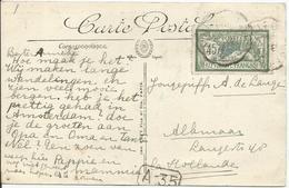 1907 - N°143 - Oblitéré (o) - Seul Sur Carte - ECHIROLLE (Isère) - Lettres & Documents