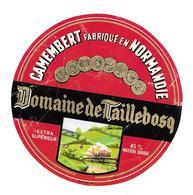 ETIQUETTE De FROMAGE. CAMEMBERT De NORMANDIE..Domaine De TAILLEBOSQ ( Calvados 14) - Cheese