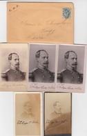 LETTRE. 29 JUIL 1907. NIMES 2 PARIS. POUR VOUZY DANS LA LOIRE. A L'INTERIEUR 5 PHOTOS DE PHILIPPE COMTE DE PARIS  / 2 - Postmark Collection (Covers)