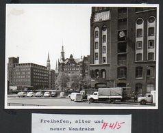 C3274/ Foto  Hamburg Freihafen Wandrahm  LKW Autos 12,5 X 9 Cm  Ca.1965 - Sonstige