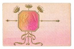 Femme    CPA  Dos  Divisé     A Pas Voyagé    Décor Art Nouveau En Relief Gaufrée - Femmes