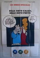 Affiche Publicitaire Abribus - Assurances M M A - Belle Auto Cassée, Belle Auto Prêtée - Le Chat De Philippe Geluck - Andere