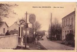 CPA  / Les Georgets  (71) Entrée De La Rue De Lucy  Garage Citroën Pompe à Essence   Ed Combier Rare - Francia