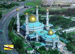 Brunei Bandar Seri Begawan Bolkiah Mosque Aerial View New Postcard - Brunei