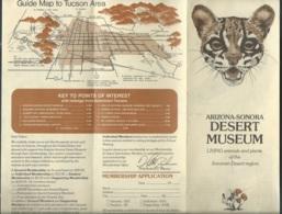 Depliant Touristique Vers  1960 , Arizona-sonora Desert Museum , Living Animals And Plants Of The Sonora Desert Mald73 - Tourism Brochures