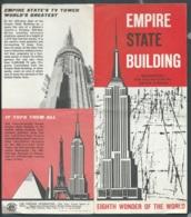 Depliant Touristique Vers  1960 , Empire State Building , Eighth Wonder Of The World  Mald74 - Dépliants Touristiques