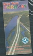 """Depliant Touristique Vers  1967 ,"""" New York Thruway """" Plans De La Region De New York Et Informations Touristique Mald75 - Tourism Brochures"""