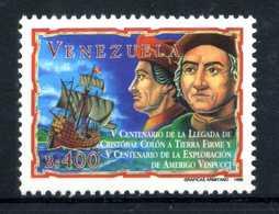 EMISSIONE CONGIUNTA Rep. Italiana - 1998 Colombo In Venezuela Ed Esplorazione Vespucci Set MNH ** - 6. 1946-.. Repubblica
