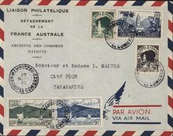 YT 1+ 8 Archipel Des Comores RF Liaison Philatélique Détachement De France Australe Comores Avion CAD Moroni Madagascar - Komoren (1950-1975)