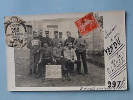 Carte-Photo Militaria -- VERSAILLES -- Groupe De Soldats Du 5ème Régiment Du Génie - Classe 1908 - Equipment