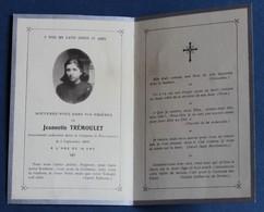 Faire Part Décès Jeannette Trémoulet Tournemire Décédée En 1920 à 16 Ans Gaston Trémoulet - Todesanzeige