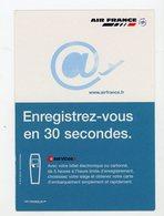 Carte Pub : AIR FRANCE, ENREGISTREZ-VOUS EN 30 SECONDES - - Publicidad