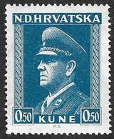CROATIE  1943  -   YT 78  -  Pavelitch -  NEUF** - Croatie