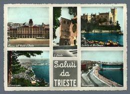 °°° Cartolina - Saluti Da Trieste Vedute Viaggiata °°° - Trieste
