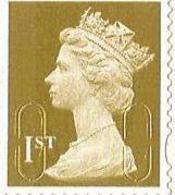 Great Britain - 2009 Self-adhesive (golden) 1st MNH ** - Ungebraucht
