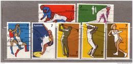 AUSTRALIA 1974 Used Gestempelt Oblitere Non-Olympic Sports Complete Set Mi 550-556 Hinged #9614 - Oblitérés