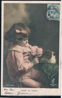 Chat Et Fillette -cat And Child- Poes Meisje -katze Kind - Chats