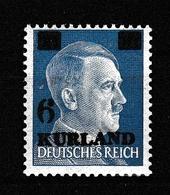 Deut. Besetzung Kurland: Mi Nr. 3 Wz, Dunkle Gummierung, Gepr. Postfrisch - Besetzungen 1938-45