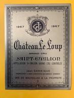 12406 - Château Le Loup 1967 Saint-Emilion - Bordeaux
