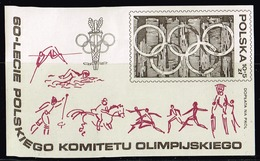 Polen 1979, Michel# Block 74 **  60 Years Polish Olympic Committee - Blocks & Sheetlets & Panes