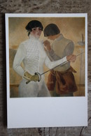 """Portrait Of Master Larina"" By Talashenko.  Fencing - Escrime - Fechten.  OLD Postcard 1977 - USSR - Very Rare! - Escrime"