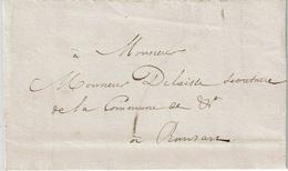 """Lettre """"Par Porteur"""" Du Cadastre Du 20 Février 1838 à Commune De RANSART (Construction Route CHATELINEAU à FRASNES) - 1830-1849 (Independent Belgium)"""