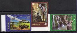 Romania 2017. Fauna. Woodpecker. Deer. Stork. - 1948-.... Republiken