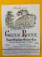 12423 - Château Rozier 1976 Saint-Emilion - Bordeaux