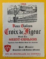 12432 - Vieux Château Croix De Figeac 1964 Saint-Emilion - Bordeaux