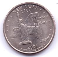 U.S.A. 2001 P: Quarter, New York, KM 318 - 1999-2009: State Quarters