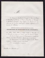 LOVENJOEL LAEKEN Vicomtesse De SPOELBERCH De LOVENJOUL Née Hortense De PUTTE  60 Ans 1873 - Décès