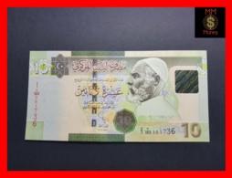 LIBYA 10  Dinars 2011  P. 78 Ab  Central Bank In Arabic At Upper On Front  UNC - Libya