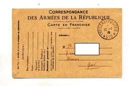 Carte Franchise Militaire Cachet Tresor Et Postes 515 - Postmark Collection (Covers)