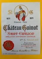 12438 - Château Guinot 1971 Saint-Emilion - Bordeaux