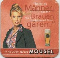"""Sous-Bock Bière Utilisé - Mousel Bière Depuis 1825 - Manner Brauen Garen."""". Luxembourg - Portavasos"""
