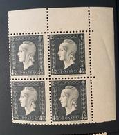 NEUF Bloc De 4 Timbres Marianne De Dulac 4,50 Fr  YT 696 - Unused Stamps