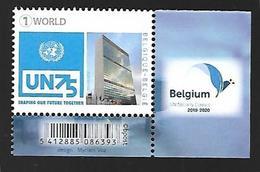 Belg. 2020 - 75 Ans Des Nations Unies ** - Belgique