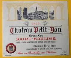 12444 - Château Petit-Yon 1973 Saint-Emilion - Bordeaux