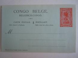 Congo Belge Belgische Congo Carte Postale Stationary Entier Postal 10 Centimes Palmiers - Postwaardestukken