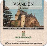 """Sous-Bock Bière Utilisé - Bofferding Bière Depuis 1764- """" Vianden Le Chateau - Luxembourg - Bierdeckel"""