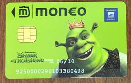 CARTE MONEO SHREK LA POSTE  ÉTAT COURANT PAS TÉLÉCARTE NO GIFT CARD NO PHONECARD CARTE A PUCE - Monéo