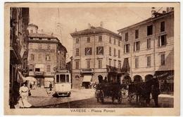 VARESE - PIAZZA PORCARI - Animata - TRAM MASNAGO -1920 - Vedi Retro - Formato Piccolo - Varese