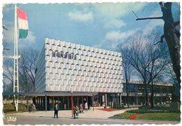Exposition Universelle Et Internationale De Bruxelles 1958 - Pavillon De La Hongrie. Vue D'ensemble. - Monumenti, Edifici