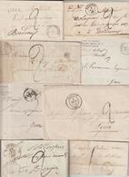 Lot De 50 Lettres Anciennes (voir 6 Scans) - 1801-1848: Vorläufer XIX
