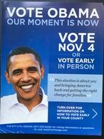 BARACK OBAMA.....Volantino Pubblicitario Campagna Elettorale .......2014 - Cartelli Pubblicitari
