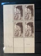 1945 NEUF Bloc De 4 Timbres SARAH BERHARDT  YT 738 Numéroté - Ungebraucht