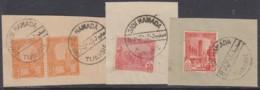 Tunisie - Sidi Hamada Sur N° 70 (YT) N° 70 (AM). Oblitérations Sur 3 Fragments. - Tunisia (1888-1955)