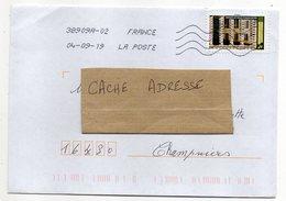 """2019--tp Adhésif """" Saline Royale D'Arc Et Senans """"  Seul Sur Lettre ...........à Saisir - Marcophilie (Lettres)"""