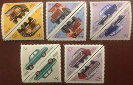RUSSIE RUSSIA URSS - Industrie Automobile Soviétique - Série Complète Tête-bêche (5 Valeurs) MNH - 1971 - Cf Scan - Neufs